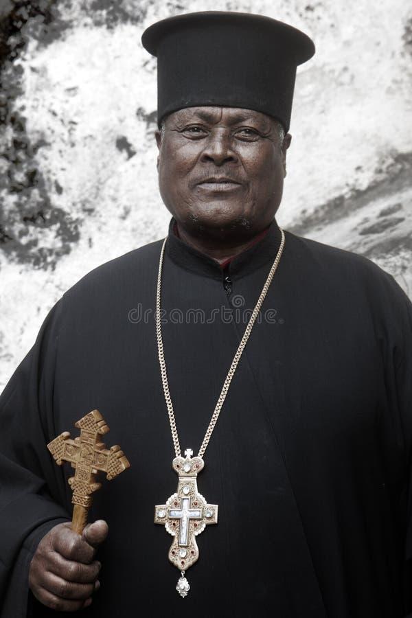 Padre etíope foto de archivo