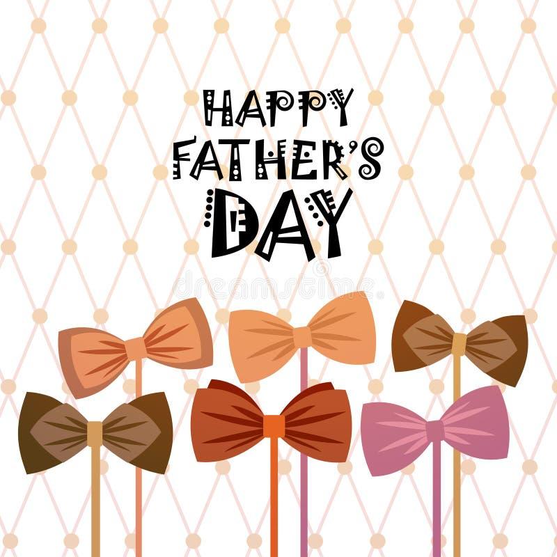 Padre feliz Day Family Holiday, tarjeta de felicitación de la corbata libre illustration