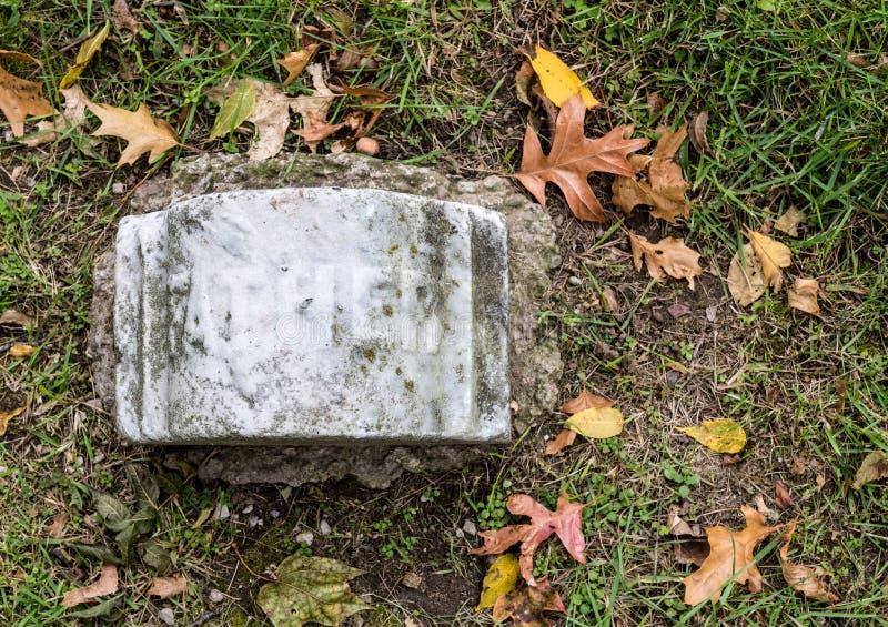 Padre Grave Marker immagine stock