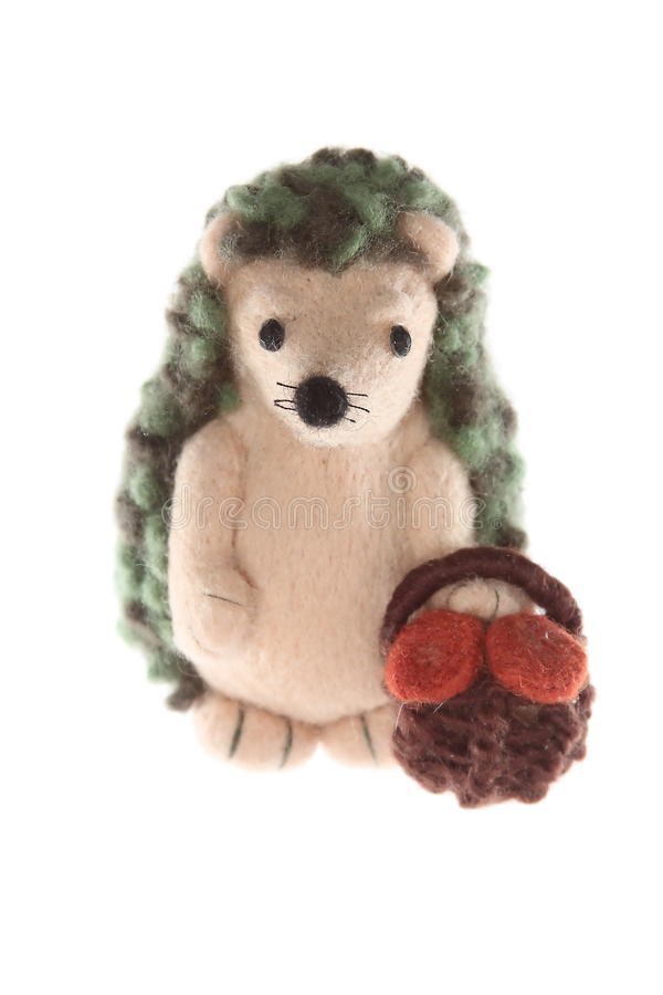 Padre Handmade del giocattolo dell'istrice fotografie stock libere da diritti