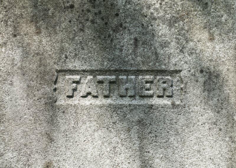 Padre Inscription sulla pietra fotografia stock libera da diritti