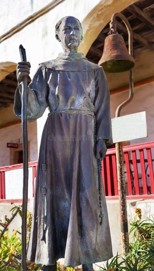 Padre Joseph Serra Statue Mission Santa Barbara California fotografia stock