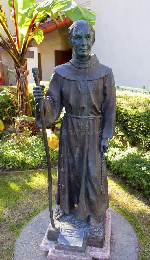 Padre Junipero Serra Statue Mission San Buenaventura Ventura Ca immagine stock