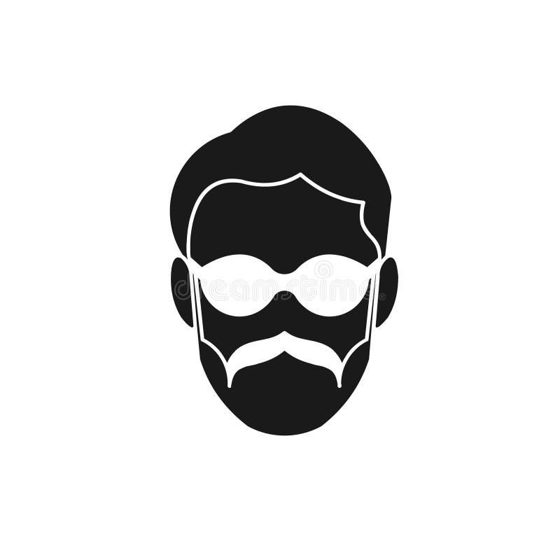 padre mascolina logo mustache Idee Design del logo di ispirazione Illustrazione vettoriale modello Isolato In Bianco royalty illustrazione gratis