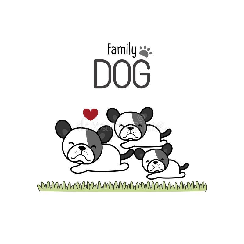 Padre Mother della famiglia di cani di Terrier e neonato illustrazione di stock