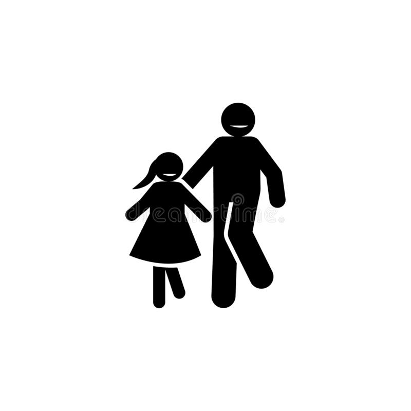 Padre, pap?, icono positivo Elemento del icono parenting positivo Icono superior del dise?o gr?fico de la calidad muestras y cole ilustración del vector