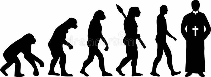 Padre Pastor Evolution ilustração royalty free