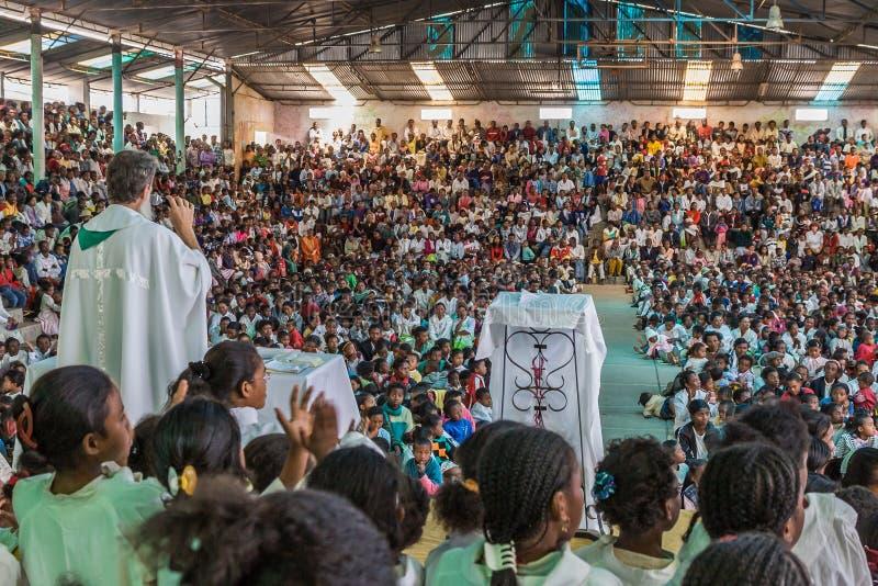 Padre Pedro Opeka immagini stock
