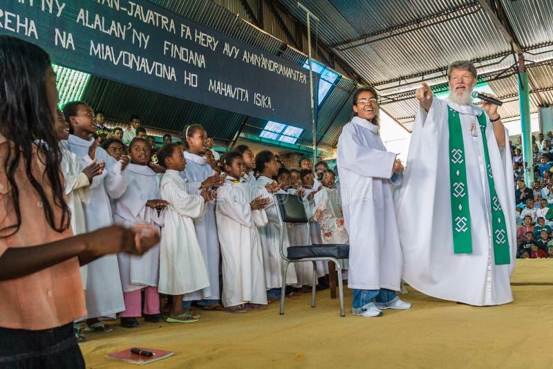 Padre Pedro Opeka imagen de archivo libre de regalías