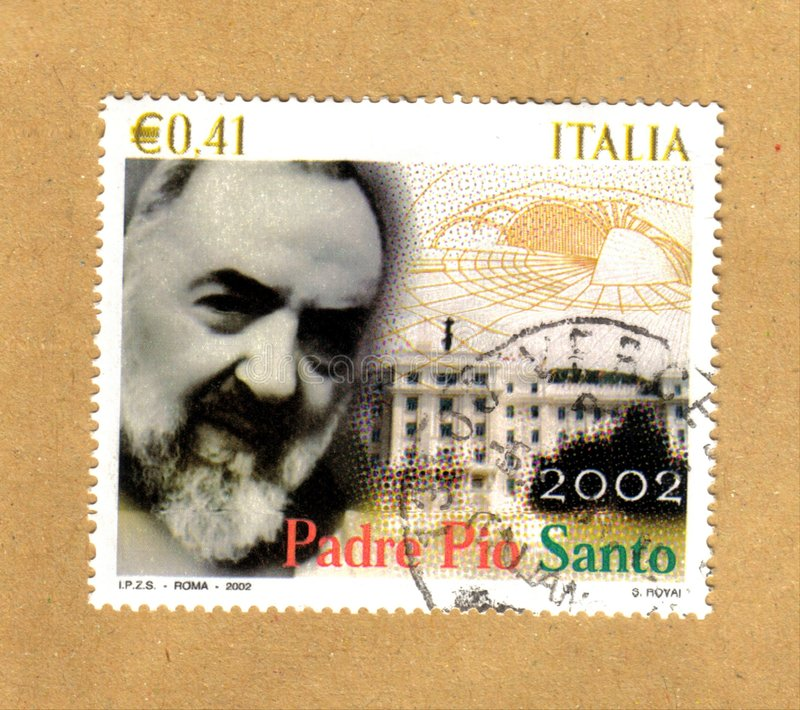 Download Padre pio stamp stock illustration. Illustration of letter - 8018782