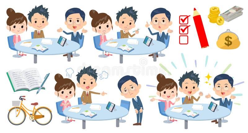 Padre-profesor conference_2 de la escuela stock de ilustración