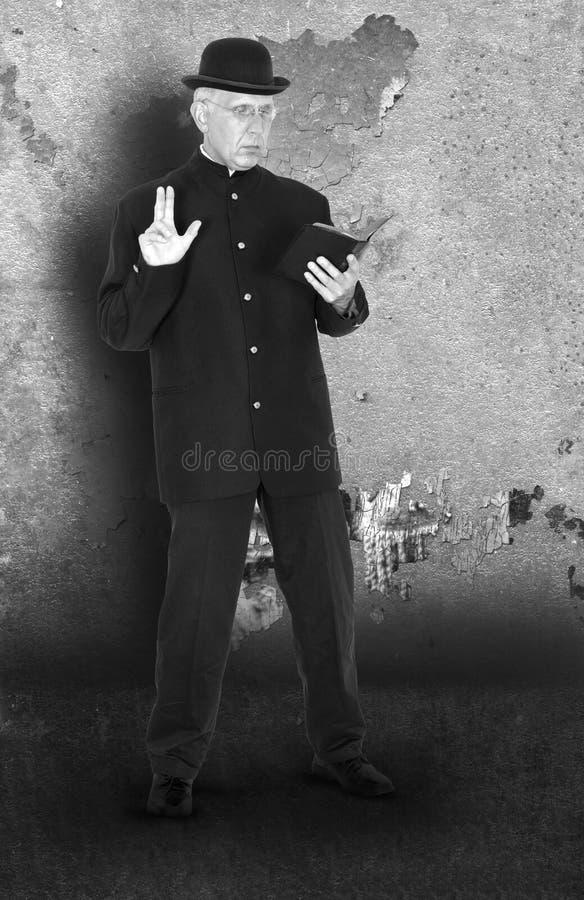 Padre retro do vintage, ministro Photograph imagem de stock royalty free