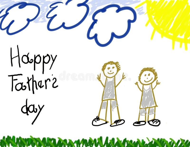 padre s felice di giorno illustrazione di stock