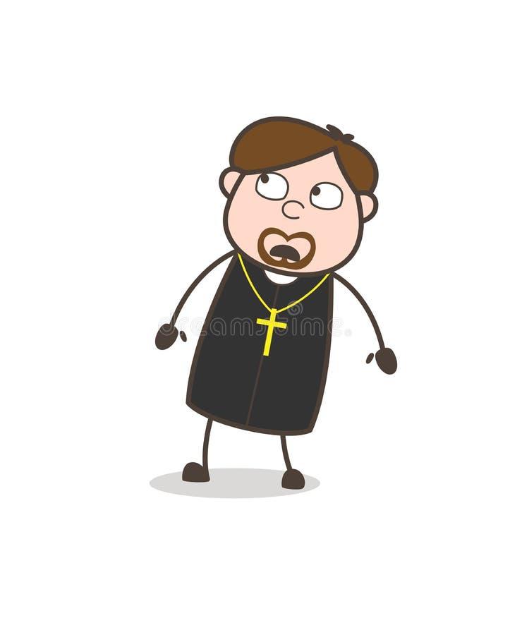Padre temível Watching Upside Vetora ilustração royalty free
