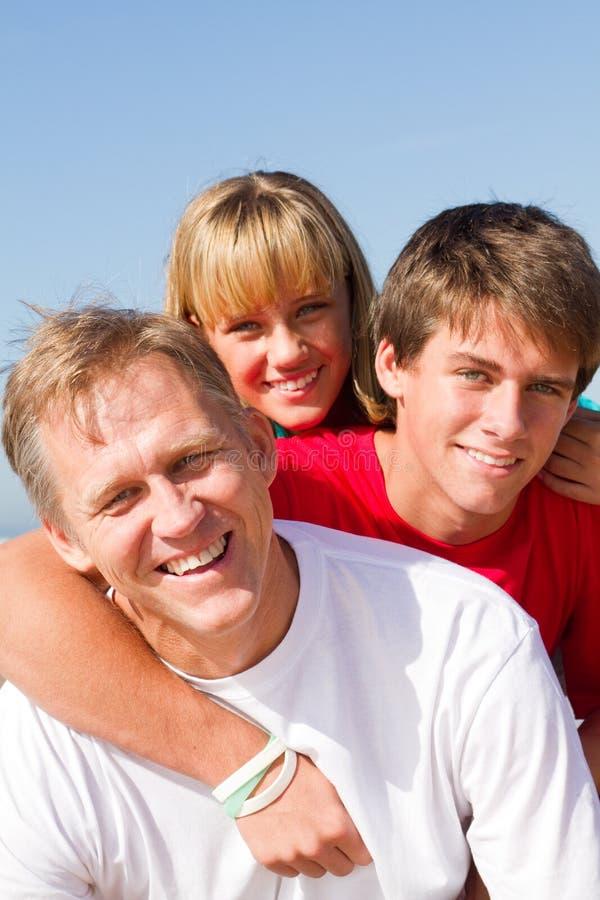 Padre y adolescente foto de archivo libre de regalías
