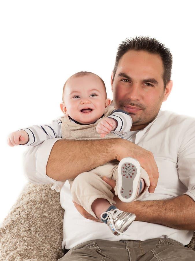 Padre y bebé imagen de archivo