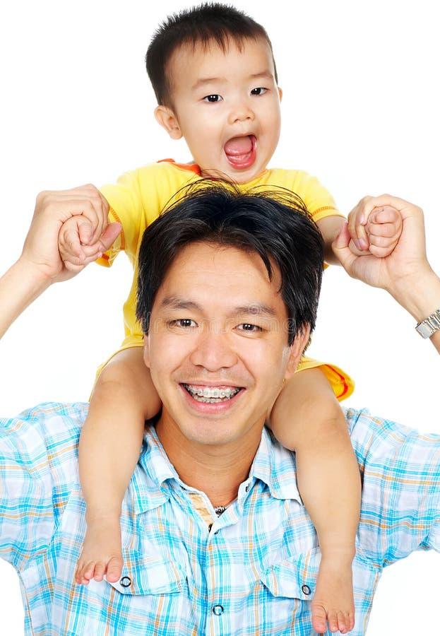 Padre y bebé fotos de archivo libres de regalías