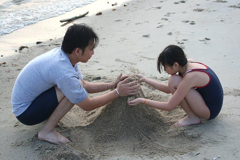 Padre y hija imagen de archivo libre de regalías