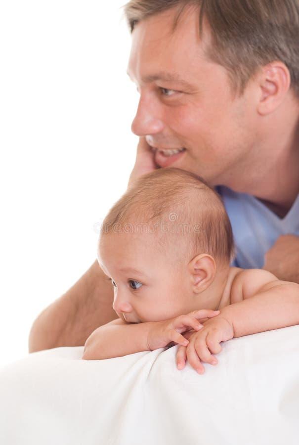Padre y su hija fotografía de archivo