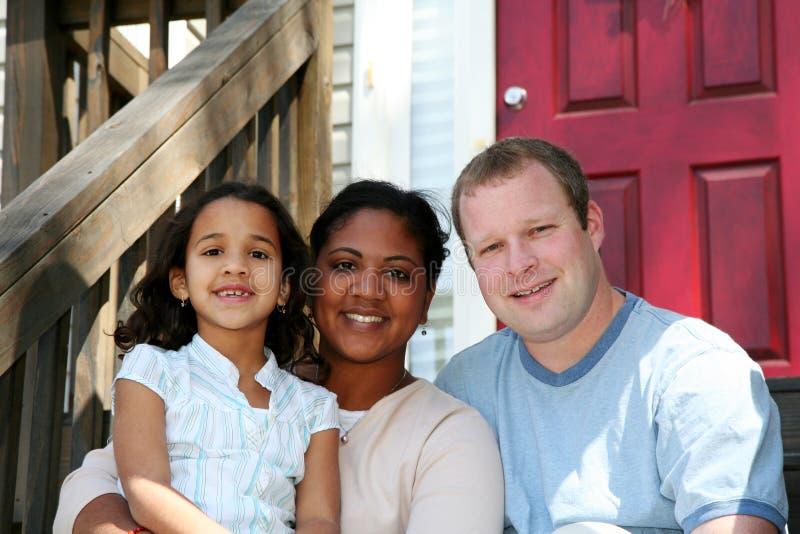 Padres e hija foto de archivo libre de regalías