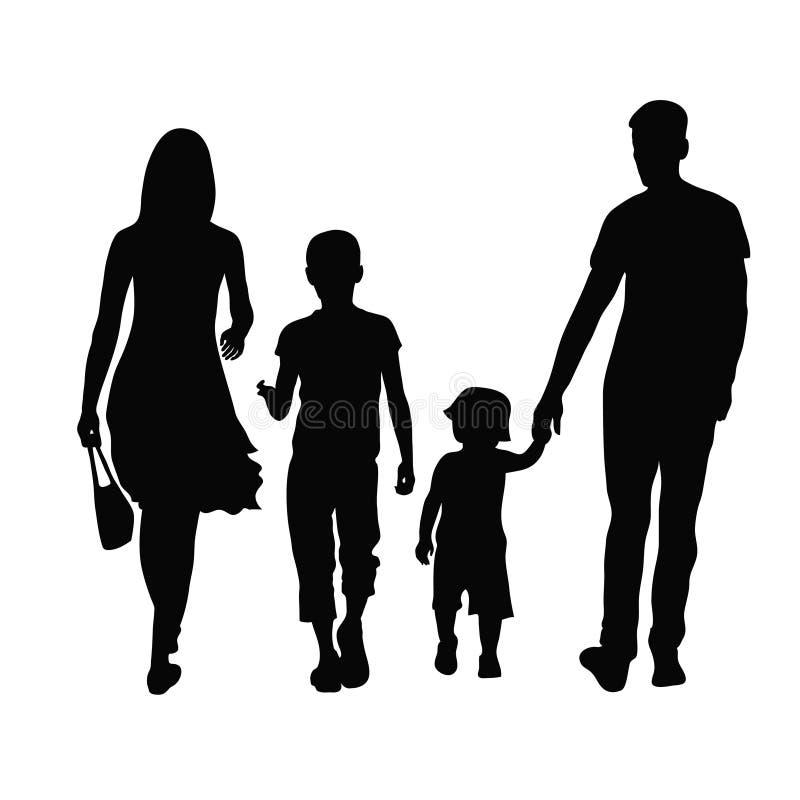Padres y niños stock de ilustración