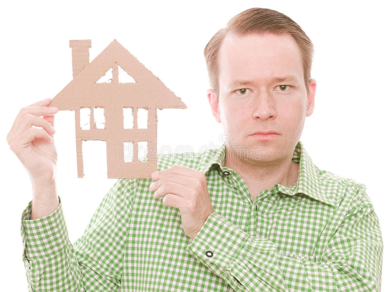 Padrone di casa serio fotografie stock libere da diritti