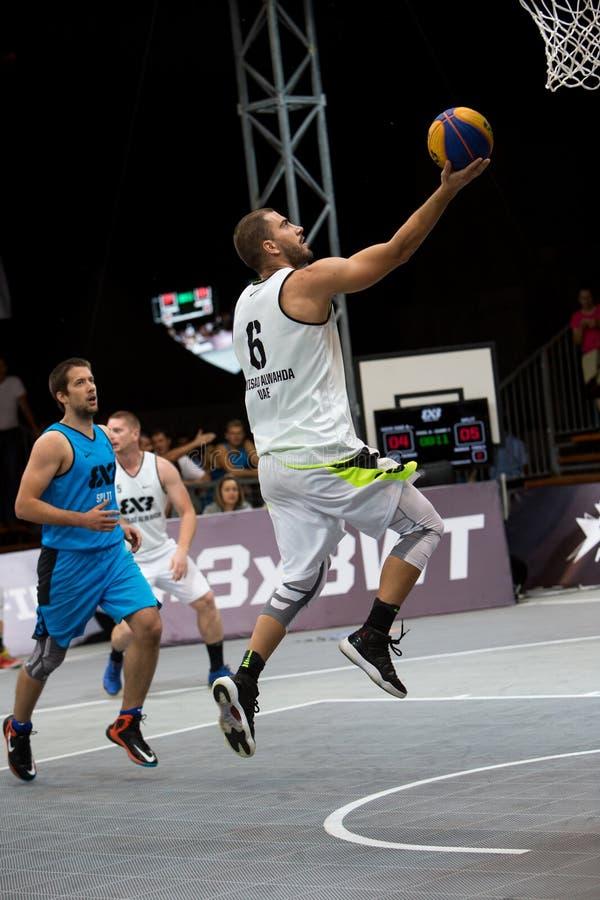 Padroni di giro del mondo di pallacanestro di FIBA 3X3 fotografie stock libere da diritti