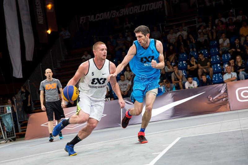 Padroni di giro del mondo di pallacanestro di FIBA 3X3 immagini stock