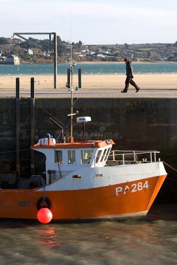 Padstow vissersboot royalty-vrije stock fotografie