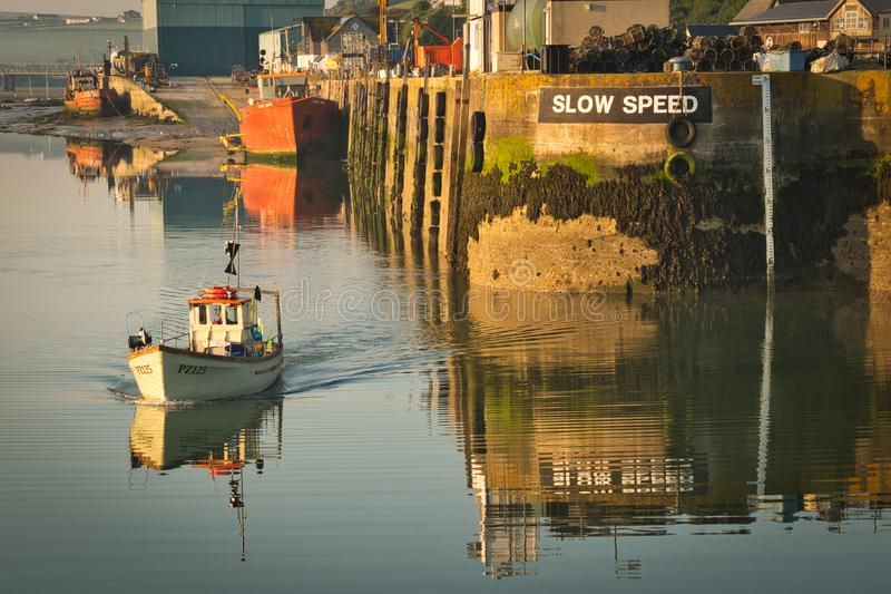 Padstowhaven in Cornwall stock foto
