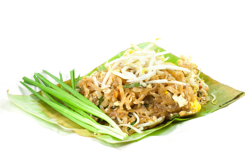 Padthai é alimento tailandês foto de stock
