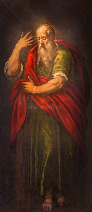 Padua - de verf van st Paul de apostel in dei Servi van kerksanta maria royalty-vrije stock afbeelding