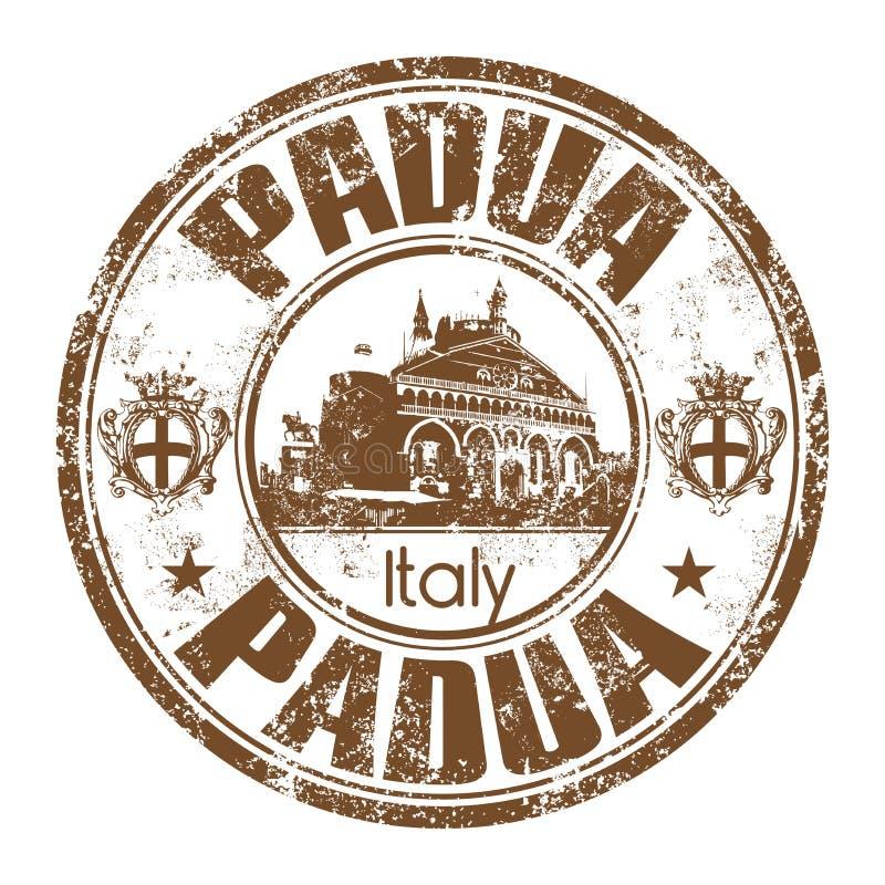 Padua grunge rubber stamp stock photo