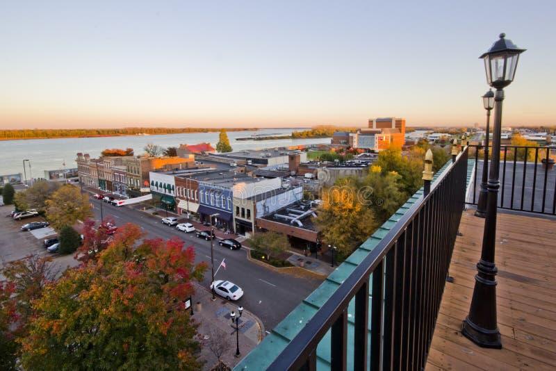 Paducah Kentucky Riverfront royaltyfri foto