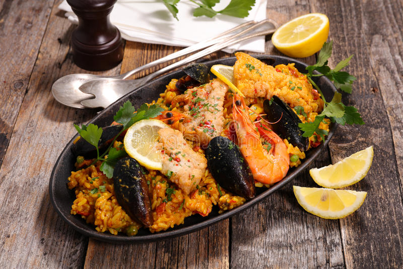 paella photographie stock