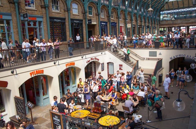 Paella, Covent-Gartenmarkt, London lizenzfreies stockfoto