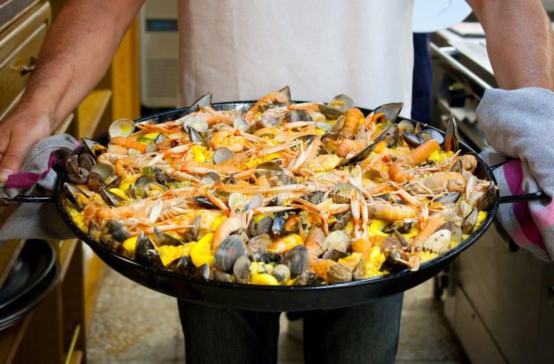 Paella dei frutti di mare fotografie stock libere da diritti