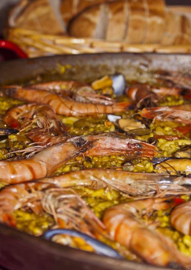 Paella delicioso foto de stock royalty free