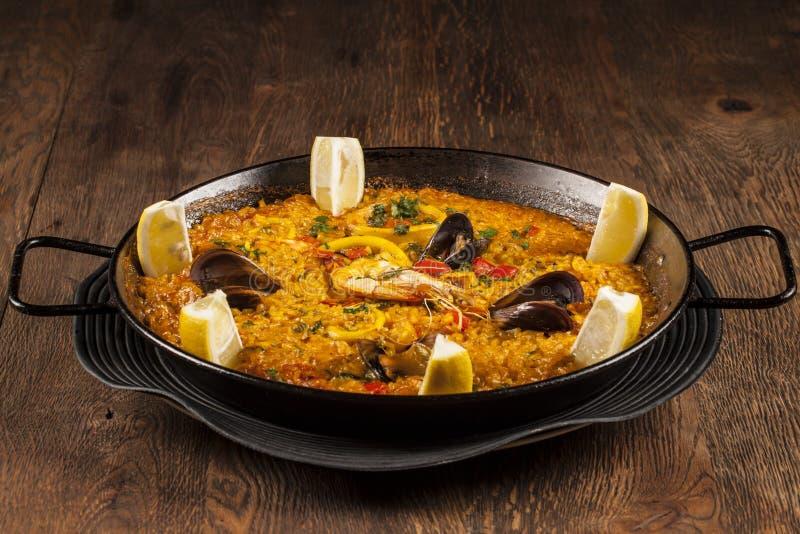 Paella do marisco foto de stock royalty free