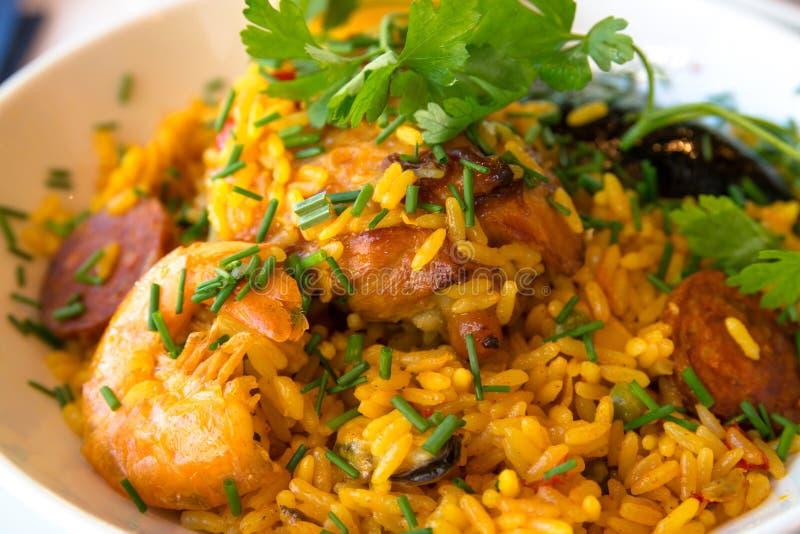 Paella espagnole de nourriture de Traditionnal photo libre de droits