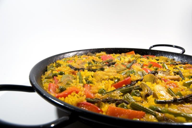 paella jarosz ryżowy hiszpański zdjęcie stock