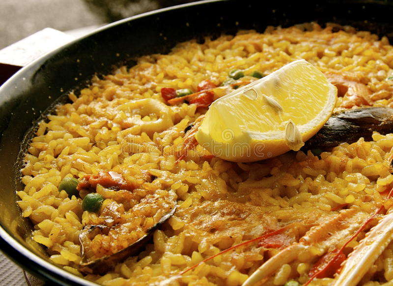 Paella in Madrid royalty free stock image