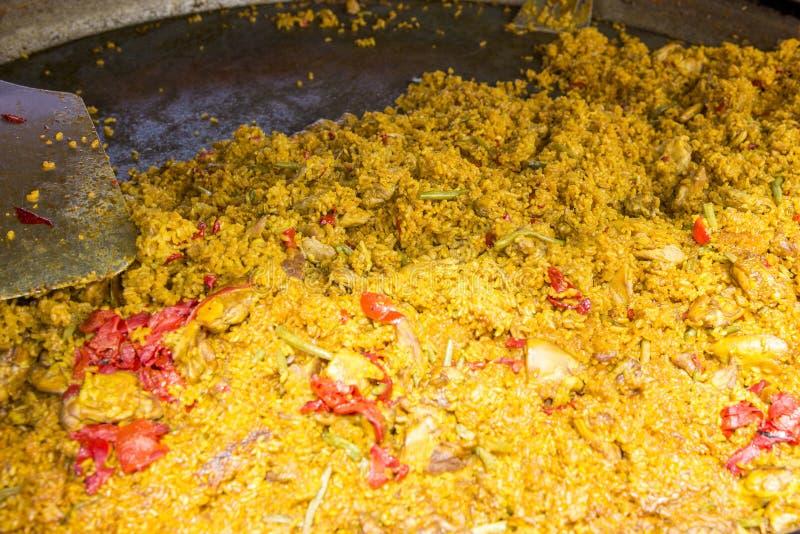 Paella - plat Valencian espagnol de riz photographie stock libre de droits