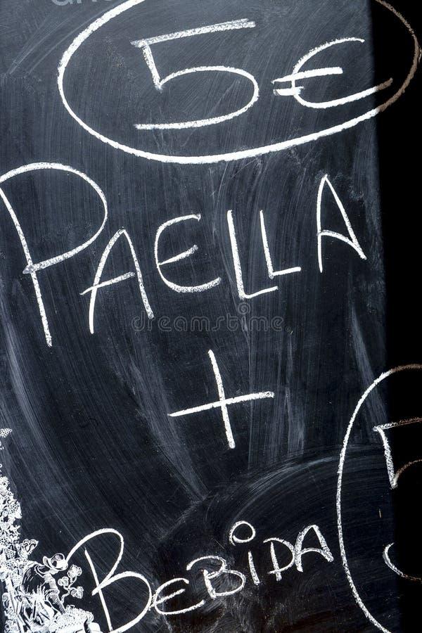 Paella, prato tradicional na Espanha imagem de stock