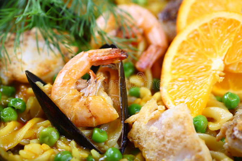 Download Paella Scampi Seafood Mussels Stock Photo - Image: 3858700