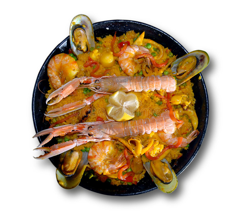 Download Paella with seafood stock photo. Image of combs, saffron - 8143272
