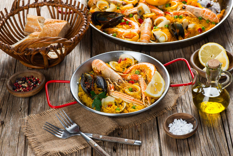 Paella spanish food stock image
