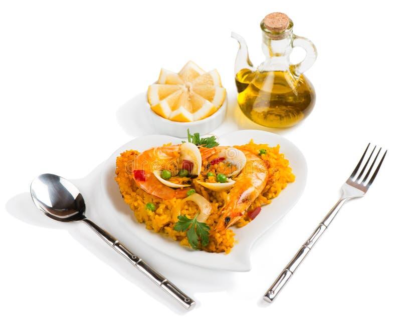 Paella - traditionell spansk mat royaltyfri fotografi