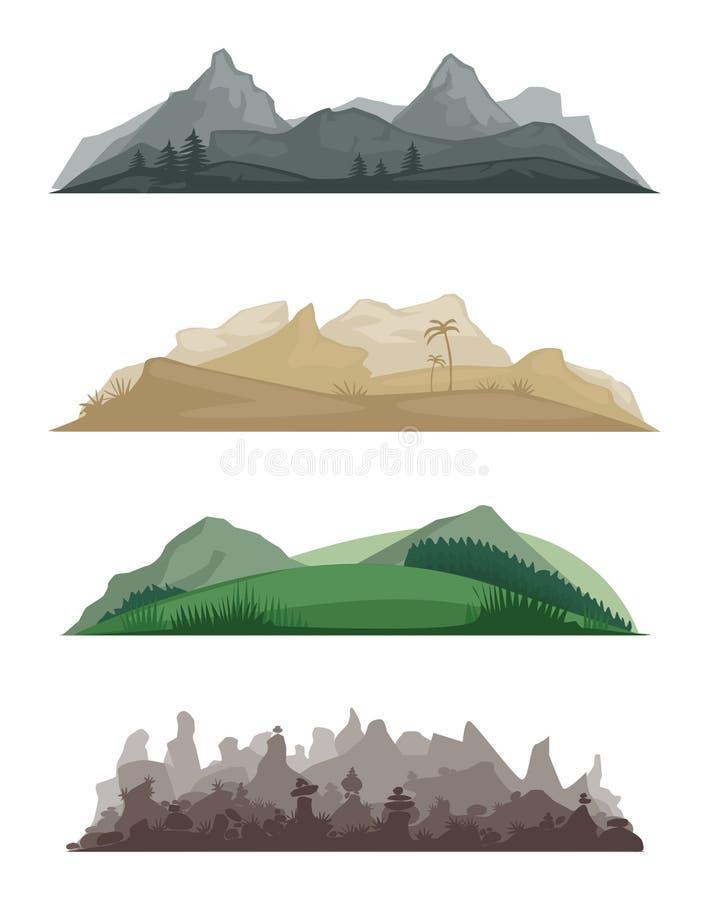 paesaggi illustrazione di stock