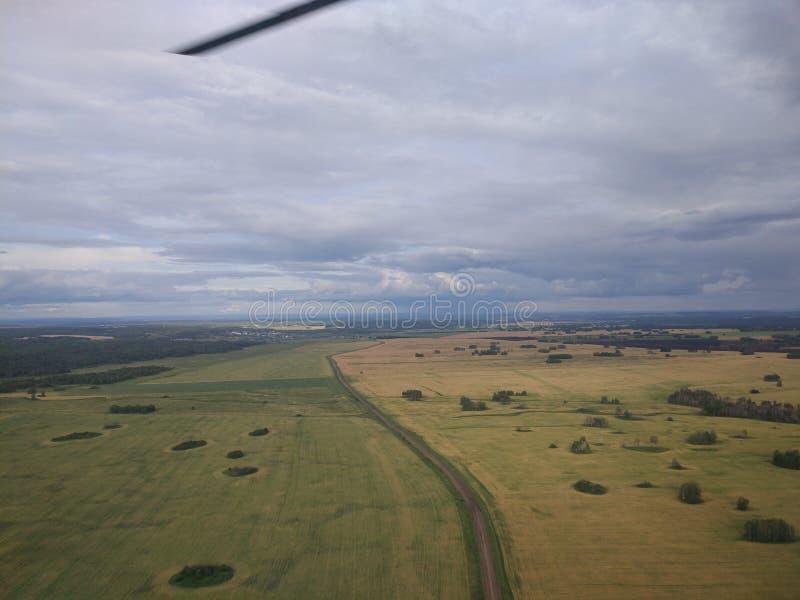 Paesaggi dall'elicottero fotografia stock libera da diritti